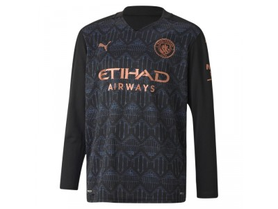Manchester City away jersey L/S 2020/21 - youth - by Puma