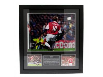 Arsenal FC Bergkamp Signed Framed Print