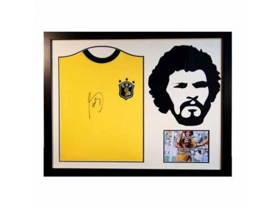 Brasil Socrates Signed Shirt Silhouette