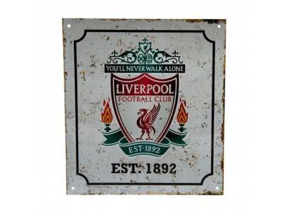 Liverpool FC Retro Logo Sign