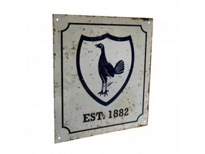 Tottenham Hotspur FC Retro Logo Sign