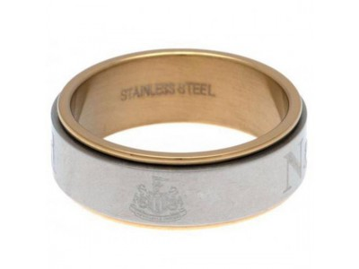 Newcastle United FC Bi Colour Spinner Ring Large