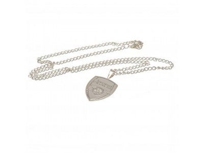 Arsenal FC Silver Plated Pendant & Chain XL