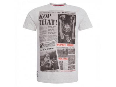Liverpool Mens Ecru Marl Kop That Tee