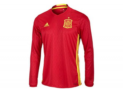 Spain home jersey L/S EURO 2016 - by adidas