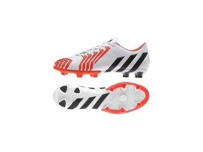 Predator Instinct FG Cleats - White, Red, Men's