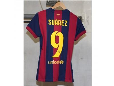 Barcelona home jersey 2014/15 - womens - Suarez 9