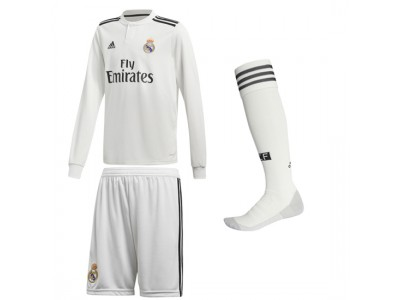 Real Madrid Home Kit L/S 2018/19 - Youth