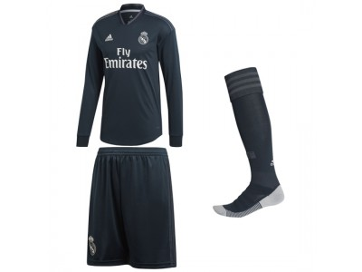 Real Madrid Away Kit L/S 2018/19 - Youth