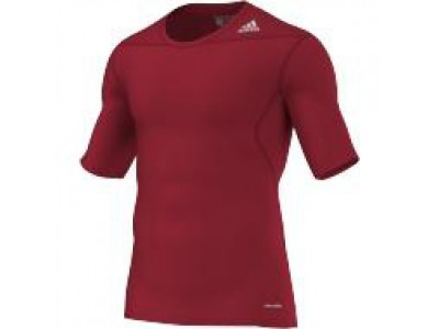 Adidas TechFit Base Layer S/S - Men's, Red
