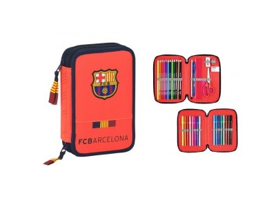 FC Barcelona filled pencil case - orange