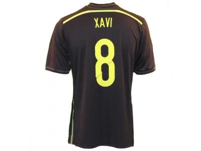 Spain away jersey 2014 - youth - Xavi 8