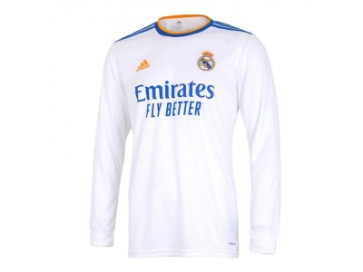 Real Madrid home jersey L/S 2021/22 - by adidas
