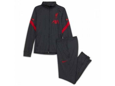 Liverpool Kids Dark Grey Strike Tracksuit 2020/21