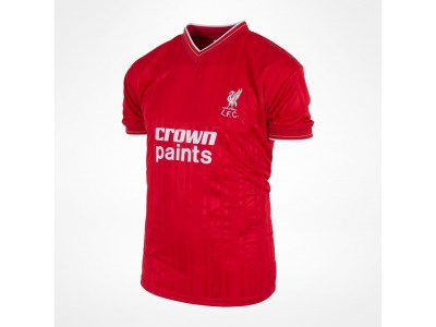 Liverpool 1986 home retro shirt  - Crown Paints