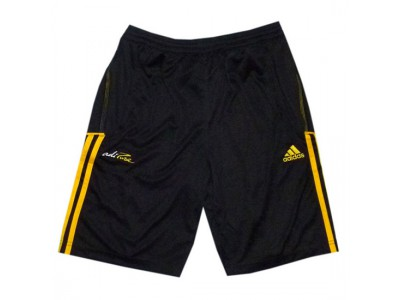 adipure training shorts - black-yellow - youth