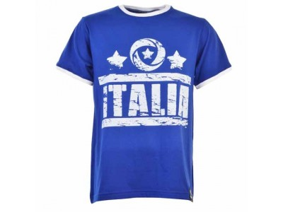 Italia T-Shirt Royal White Ringer