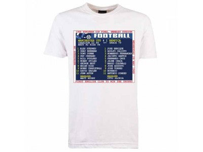 Manchester United 1968 European Cup Final Retrotext T-Shirt - White