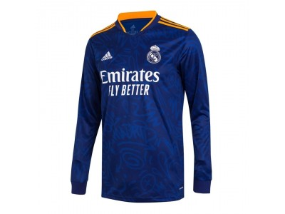 Real Madrid away jersey L/S 2021/22 - by adidas