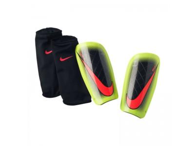 Nike mercurial lite shin guards - black neon