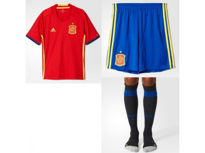 Spain Home Kit EURO 2016 - Youth