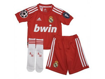 Real Madrid CL away minikit little boys 2011/12