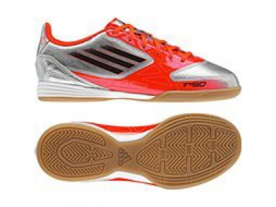 F10 IC Shoes - Messi, Silver, Infrared, Men's