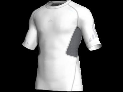 Adidas compression shirt - white
