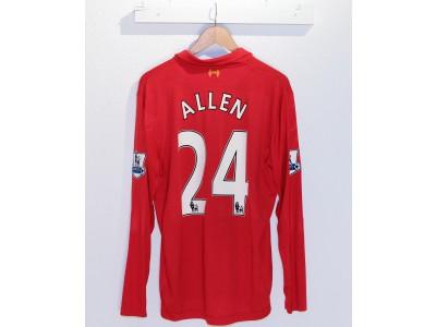 Liverpool home jersey L/S 2012/13 - ALLEN 24