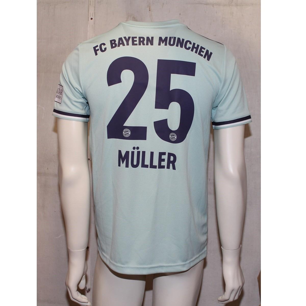 Fc Bayern Munchen Away Jersey 2018 19 Muller 25