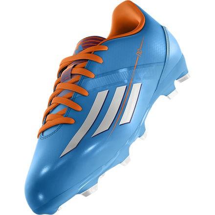 Adidas F10 FG Cleats - Blue, Orange, Youth