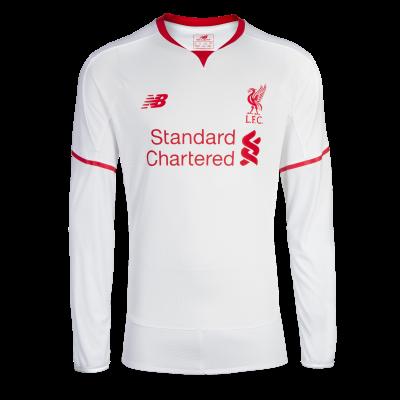 New Balance Liverpool Fc Away Jersey L S 2015 16 Men S Long Sleeve