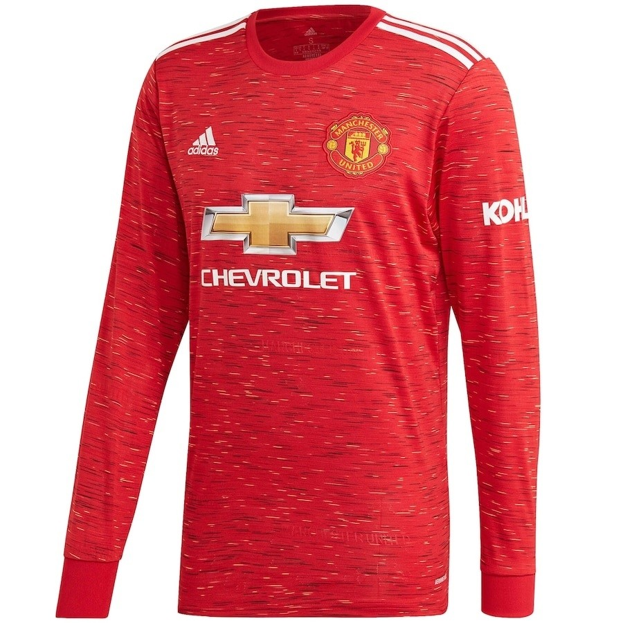Manchester United Home Jersey L S 2020 21 Man Utd Long Sleeve Custom Jersey