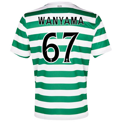 Celtic jersey name and numbers