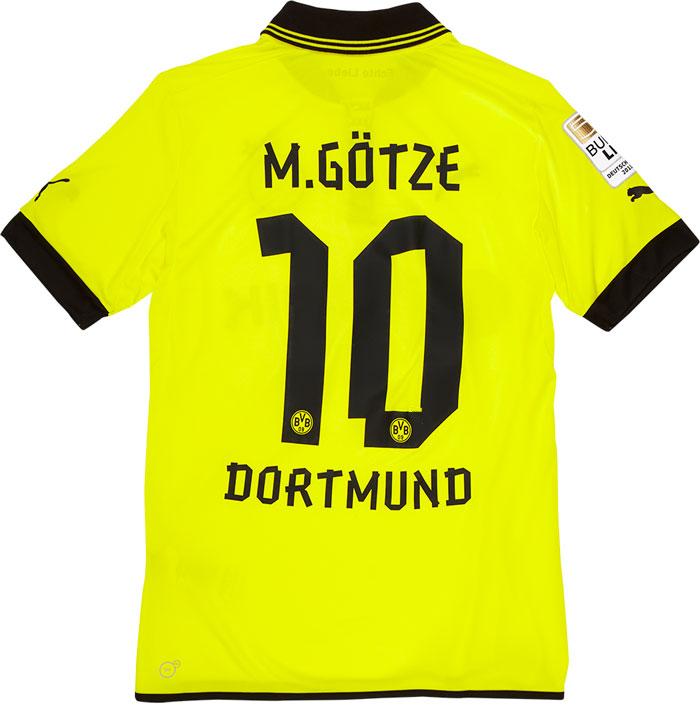Dortmund jersey official name and number set