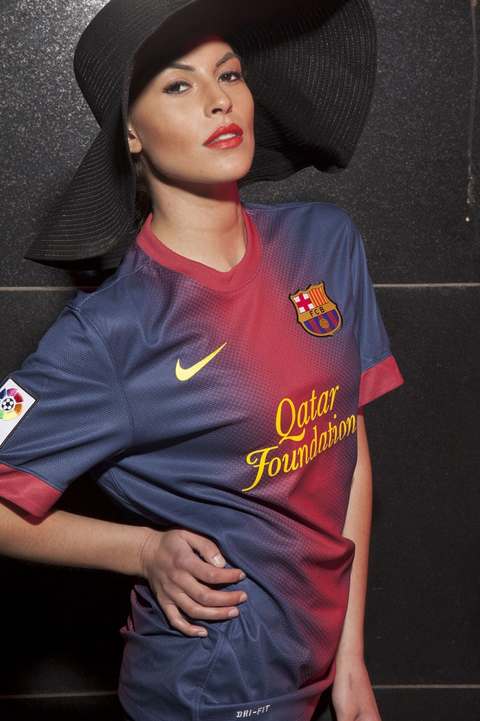 Model: FC Barcelona girl the Spanish senorita