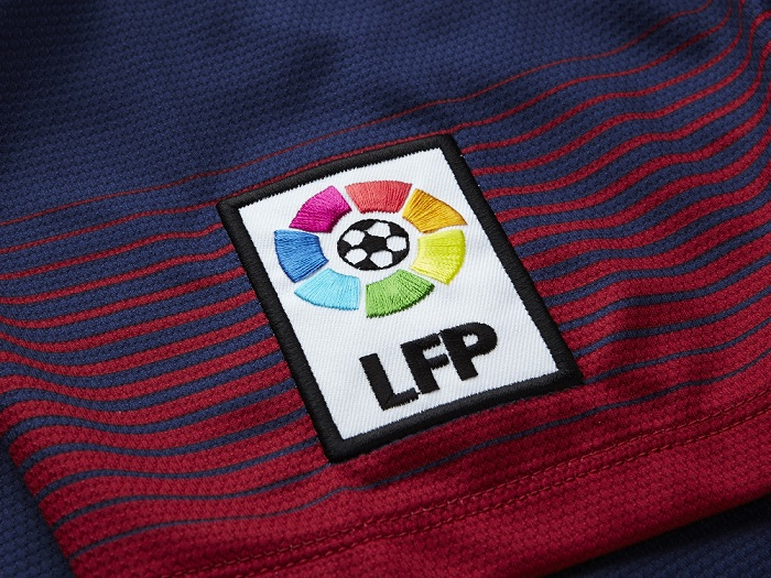 FC Barcelona sleeve badge LFP home kit