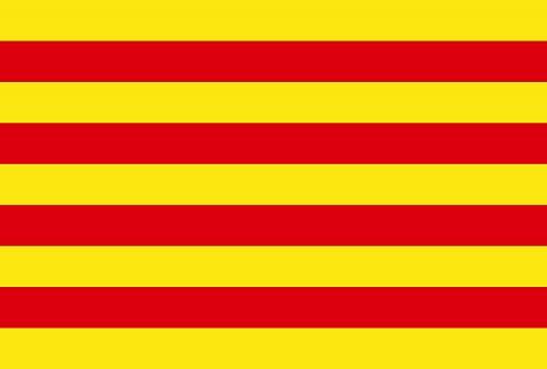 The Catalan flag Senyera