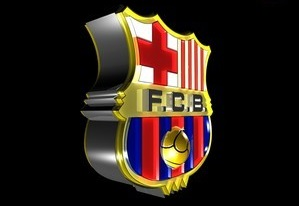 FC Barcelona club logo 3D