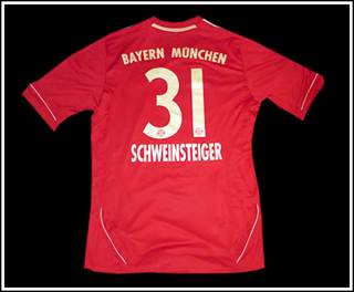 FC Bayern name and number kit