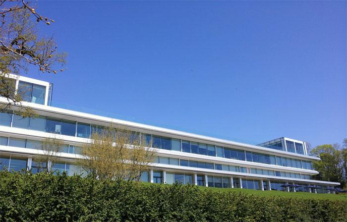 UEFA HQ seen from the lake Geneva
