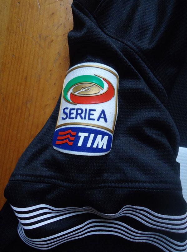 Juve away kit Lega Calcio badge