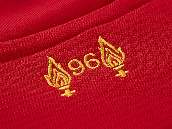 Liverpool FC home jersey Hillsborough Flames