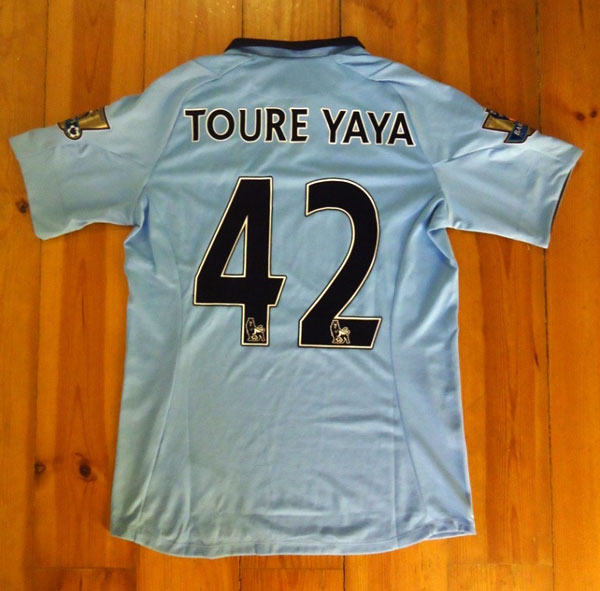 Man City home jersey printing EPL lextra