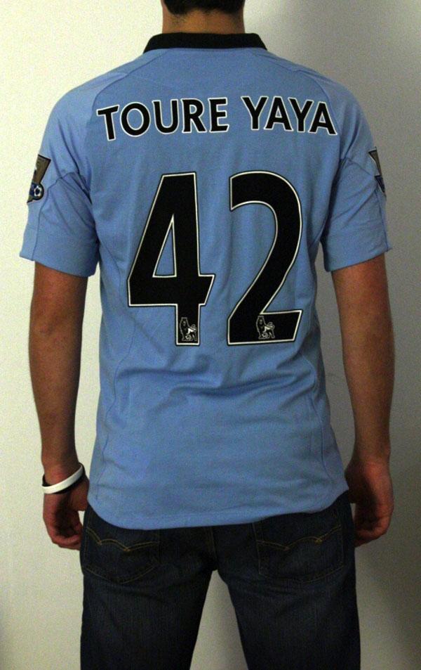 Man City home jersey 12-13 personalization