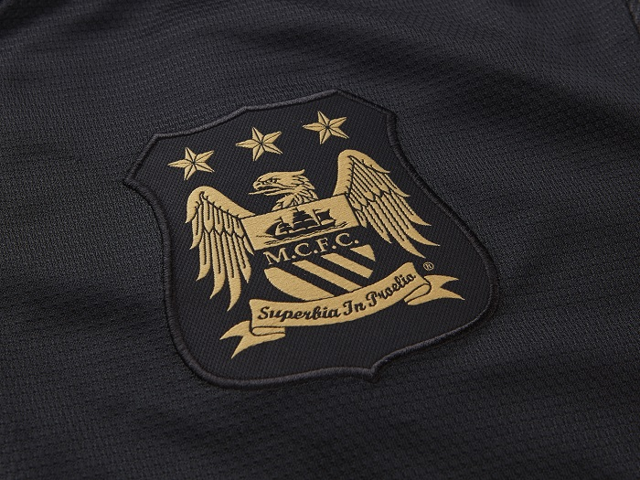 Man City club logo for the away jersey
