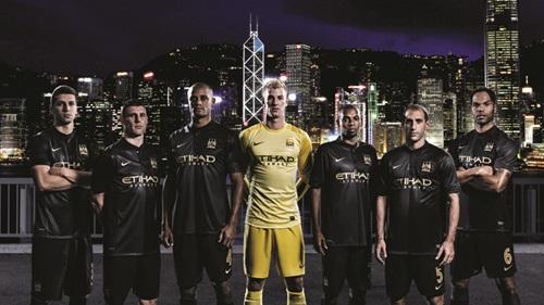 Man City away jersey HK skyline