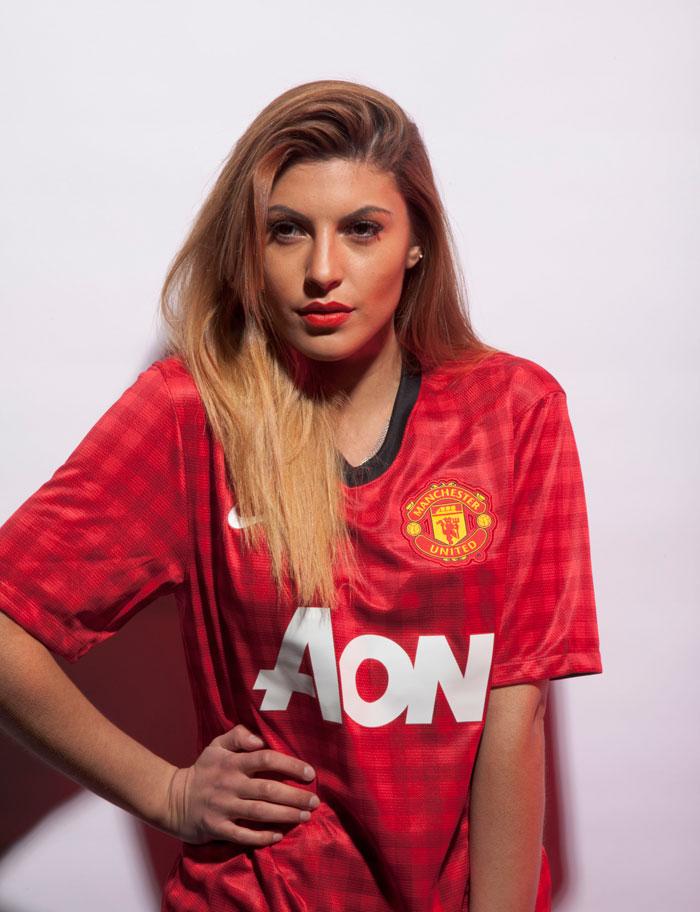 Man Utd jersey outside trim girlish
