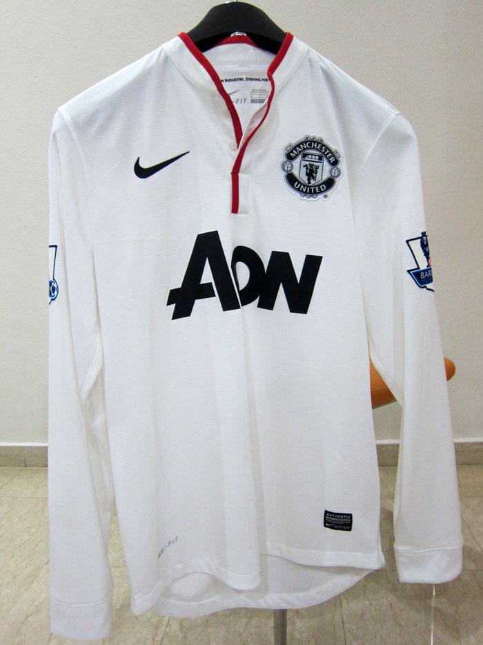 Man United away jersey long sleeve 12-13