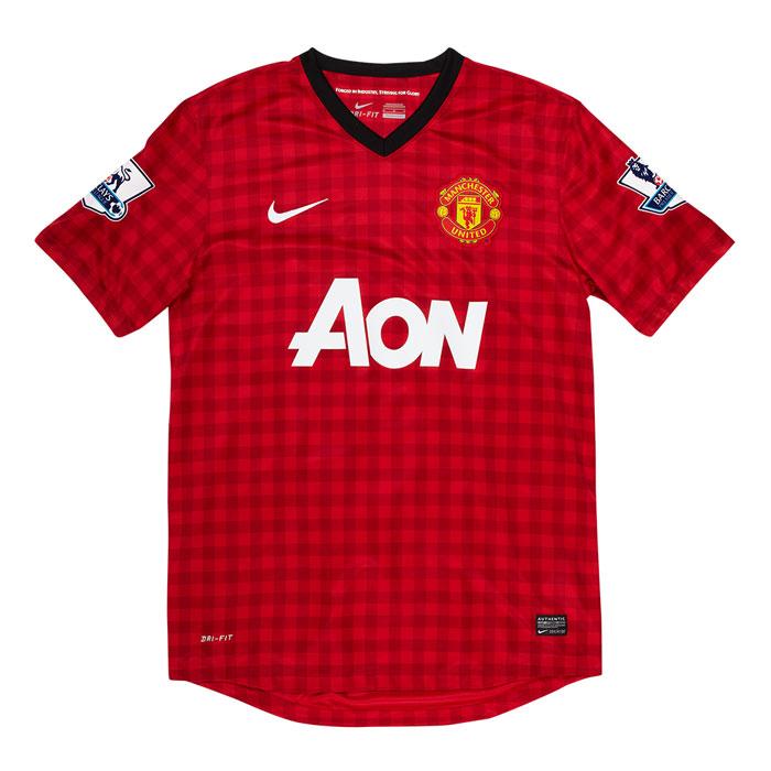 Man United hjemme trøje PL mærker